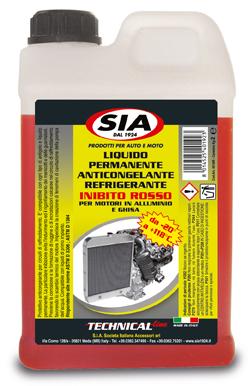 Liquido radiatori da -20° a +118° protettivo anticongelante - inibito Rosso 4019