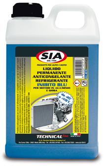 Liquido radiatori da -20° a +118° protettivo anticongelante - inibito Blu 4019